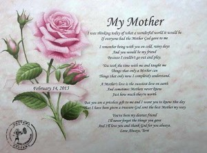 my mother note